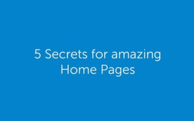 5 Secrets for amazing Home Pages